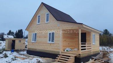 Строительство загородного дома 6х8 с отделкой