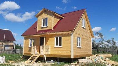 Каркасный дом 6х8 в Новгородской области Старая Русса