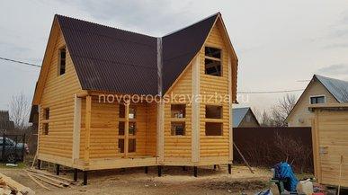 Cтроительство дома под усадку 7х7