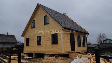 Дом из бруса под ключ 6х8 Архангельская область