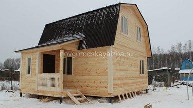 Cтроительство дома из бруса по проекту Д-10