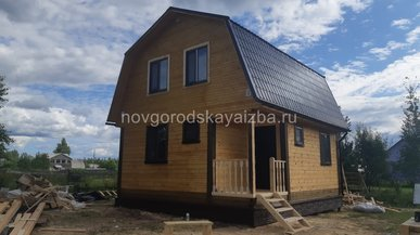Загородный дом 6х6 по индивидуальному проекту Архангельская область