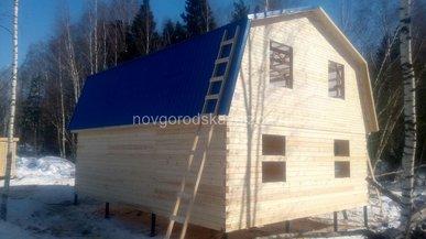 Строительство дома под усадку 7х9
