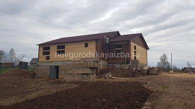 Строительство дома из бруса под усадку в г. Валдай 10х13